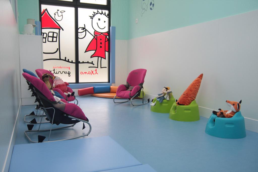 Detalle aula bebés guardería txanogorritxu Ansio-BC