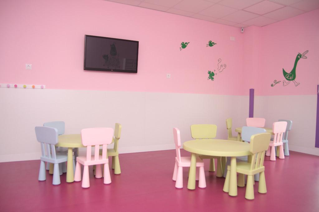 Detalle aula rosa guardería txanogorritxu Ansio-BEC