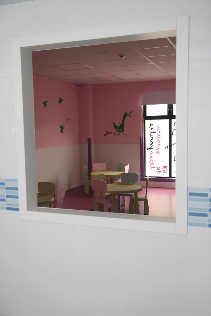 Interior cocina guardería txanogorritxu Ansio-BEC