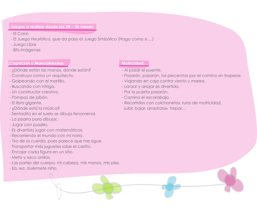 activities childcare 24 to 36 months txanogorritxu