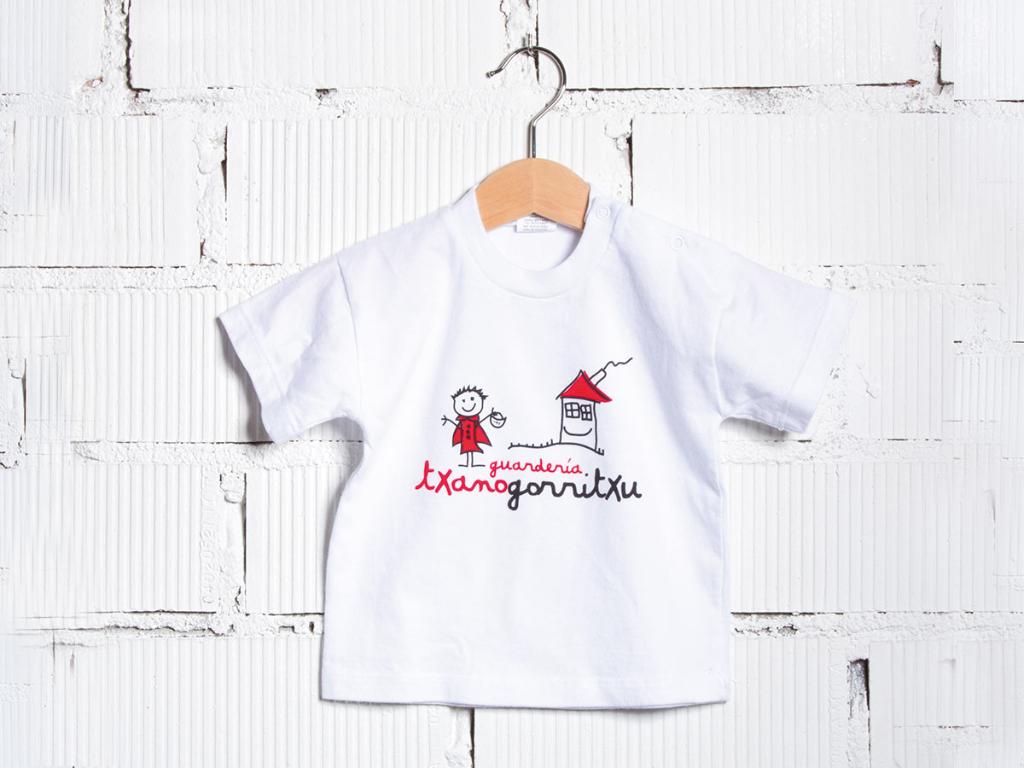 detail shirt baby nursery uniform txanogorritxu