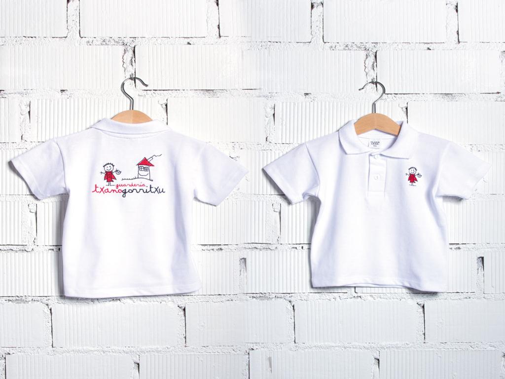 T-shirt baby nursery uniform txanogorritxu