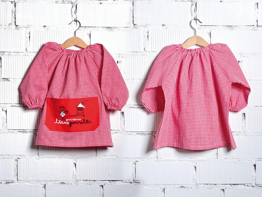 dressing gown nursery uniform txanogorritxu