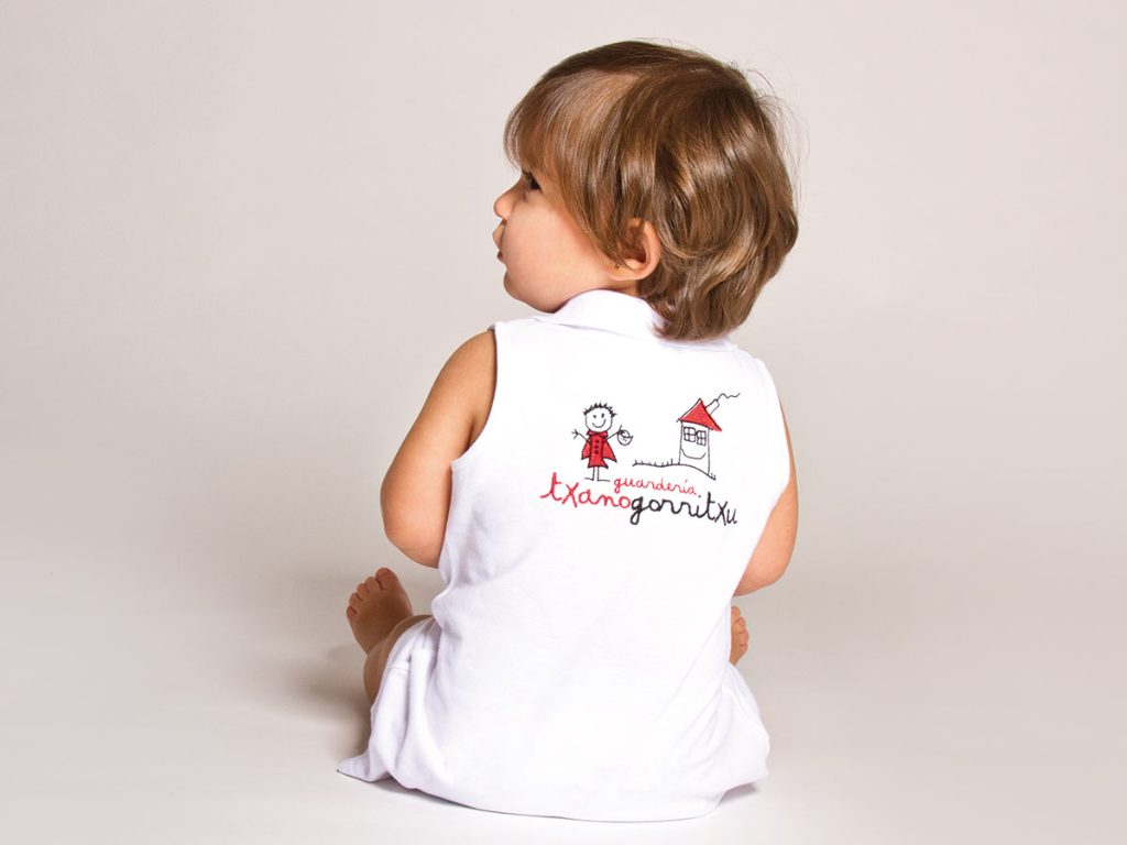 dress detail baby nursery uniform txanogorritxu