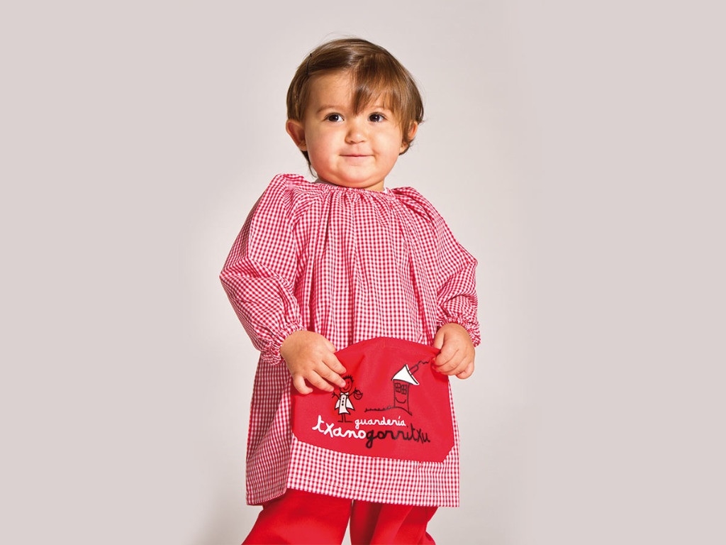dressing gown baby nursery uniform txanogorritxu