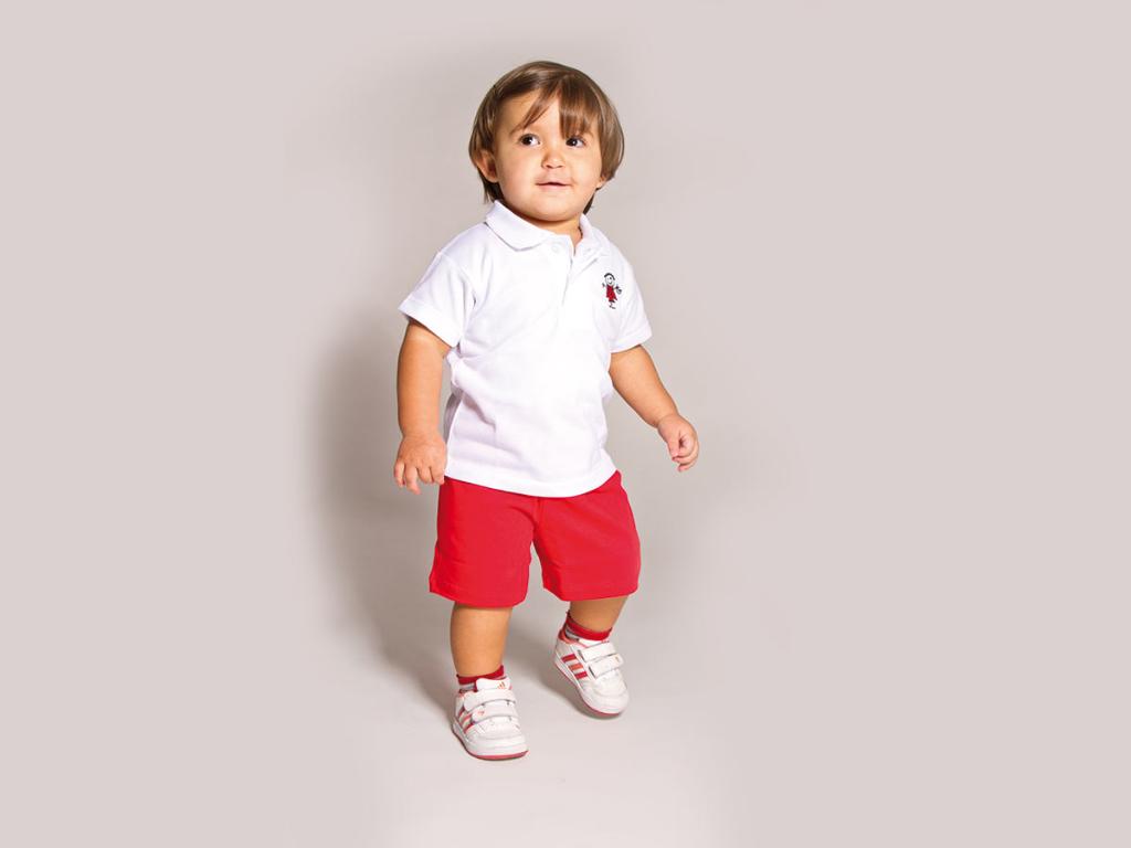 detail baby nursery uniform txanogorritxu