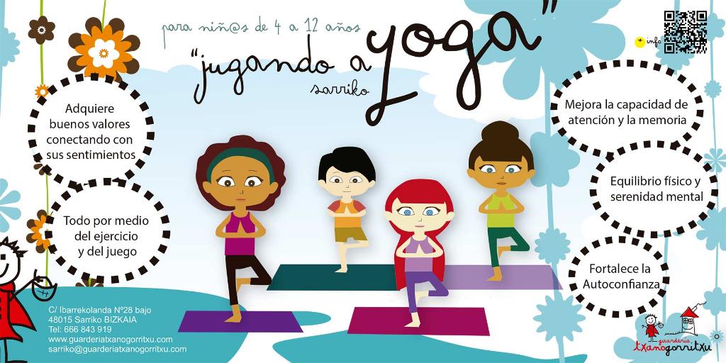 Children's Yoga in nursery txanogorritxu sarriko